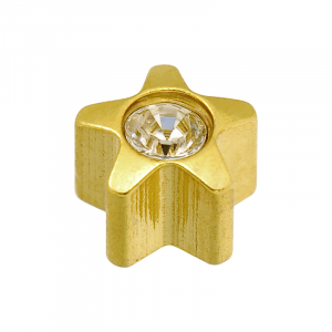 24ct Gold April Star Stone Studs