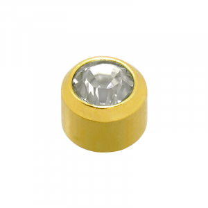 24ct Gold Plated Mini April Birthstone