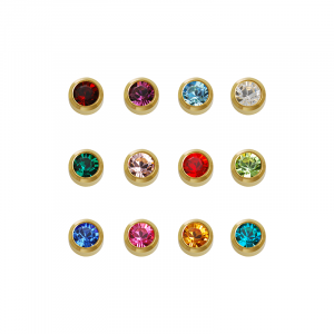 24ct Gold Mini Assorted Birthstone - Blu System