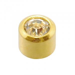 24ct Gold Plated Mini April Birthstone - Blu System