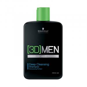 Schwarz 3D Men Hair Scalp Roots Deep Cleansing Shampoo