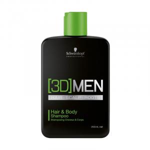 Schwarz 3D Men Hair Scalp Roots Hair & Body Shampoo
