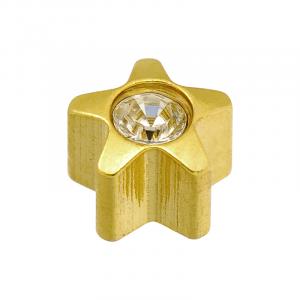 24ct Gold April Star Stone Studs