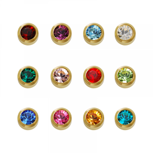 24ct Gold Plated Assorted Birthstone