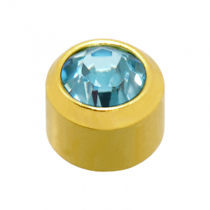 24ct Gold Plated March Birthstone
