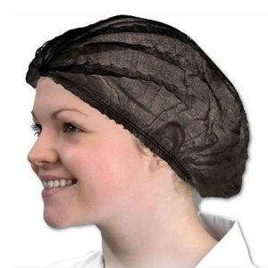 Tanning Disposable Hair Caps Black