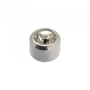 Stainless White Mini April Birthstone - Blu System