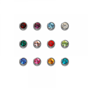 Stainless White Mini Assorted Birthstone - Blu System